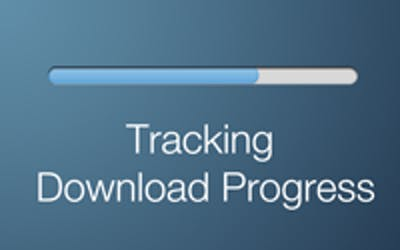 Tracking download progress poster